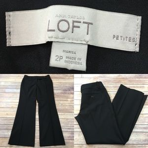 Sz 2P LOFT Marisa Fit Black Bootcut Stretch Pants